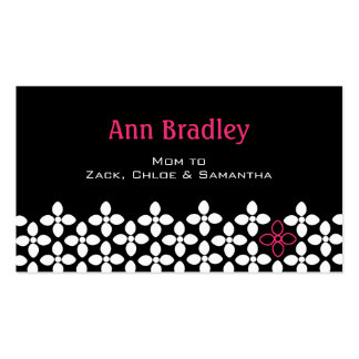 Modern Flower Mom Calling Card Double-Sided Standard Business Cards (Pack Of 100)