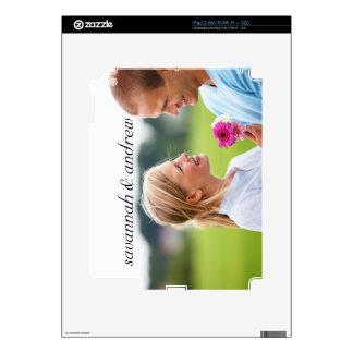 Modern Flower Printed Wood Personalized iPad Skin