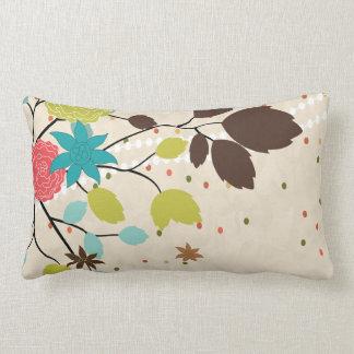 modern flowers design lumbar pillow