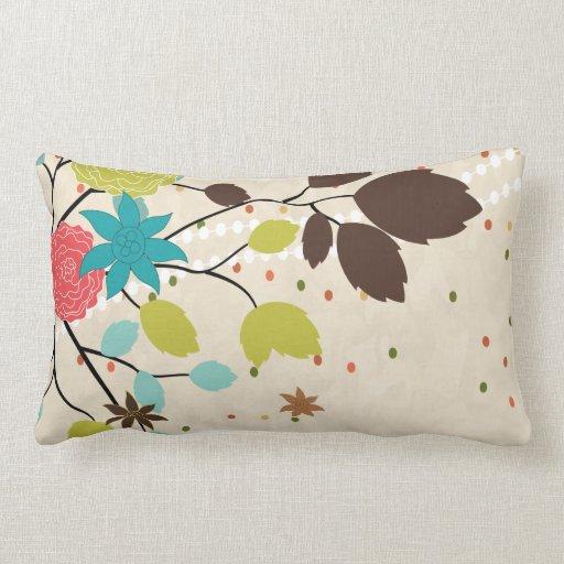 modern flowers design throw pillow Zazzle