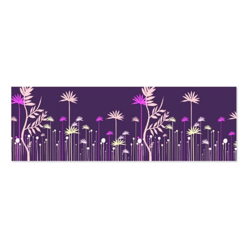 Modern Flowers Mommy Calling Card Business Cards