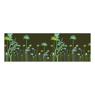 Modern Flowers Mommy Calling Card Double-Sided Mini Business Cards (Pack Of 20)