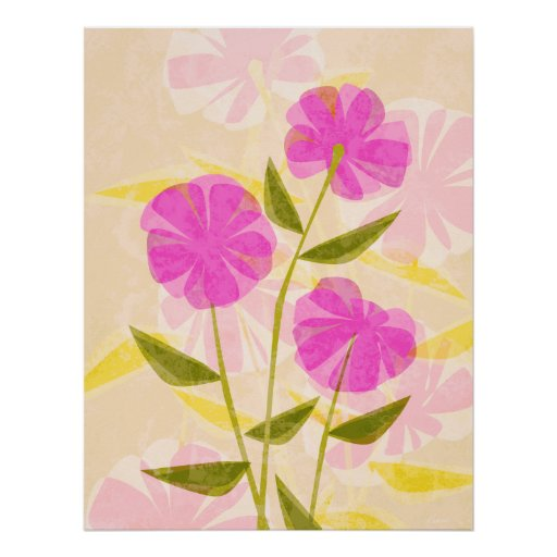 Modern Flowers Print