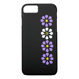 Modern Flowers Purple And White iPhone 7 Case