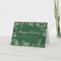 Modern Foliage on Green | Holiday Greetings