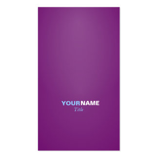 Modern font in two colors with ( Purple ) Business Card