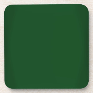 Modern Forest Green Customizable Beverage Coaster