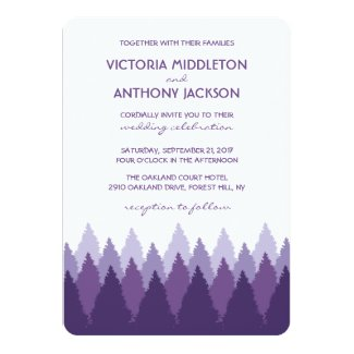 Modern Forest Range Woodland Wedding Card
