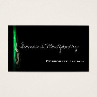 Modern Fountain Green Standard Business Cards