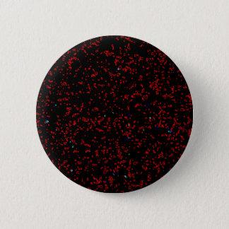Modern Fractal Art Black Red Patterns Stylish Cool Button
