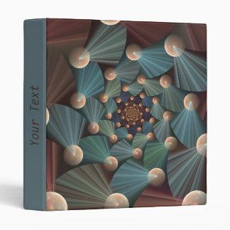 Modern Fractal Art With Brown, Slate, Blue, Text Binder