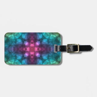 Modern Fractal Art with Cross and Bokeh Luggage Tags