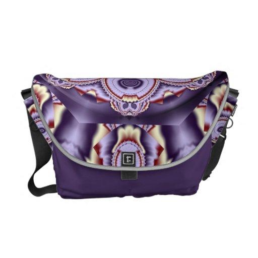 Modern fractal kaleidoscope Messenger bag