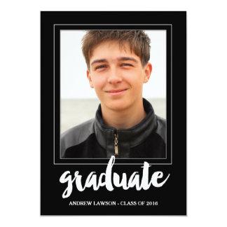 Modern Frame   Photo Graduation Party Invite