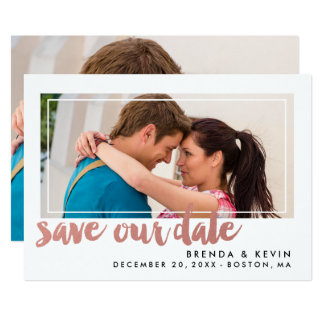 Modern Frame | Save the Date Announcement