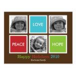 Modern Frames Christmas Card /Holiday Postcard Post Card
