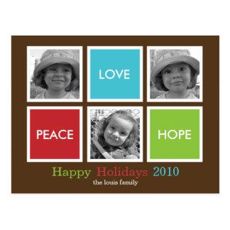 Modern Frames Christmas Card /Holiday Postcard