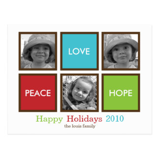 Modern Frames Christmas Card /Holiday Postcard