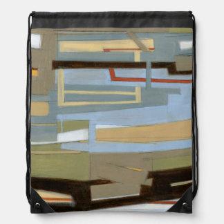 Modern Free Expression Painting by Norman Wyatt Drawstring Bag