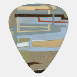 Modern Free Expression Painting by Norman Wyatt Guitar Pick