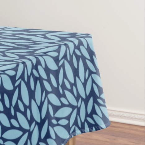 Modern fresh two toned blue tablecloth