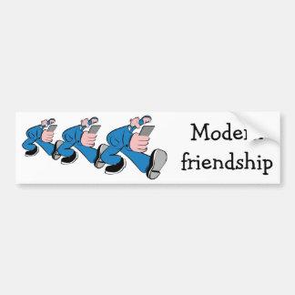 Modern friendship bumper sticker