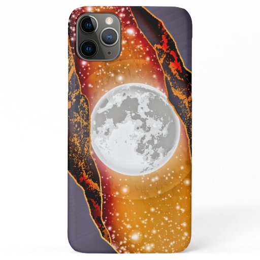 Modern Full Moon & Stars • Torn Universe iPhone 11 Pro Max Case