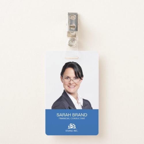 Modern Full Photo Business ID Badge