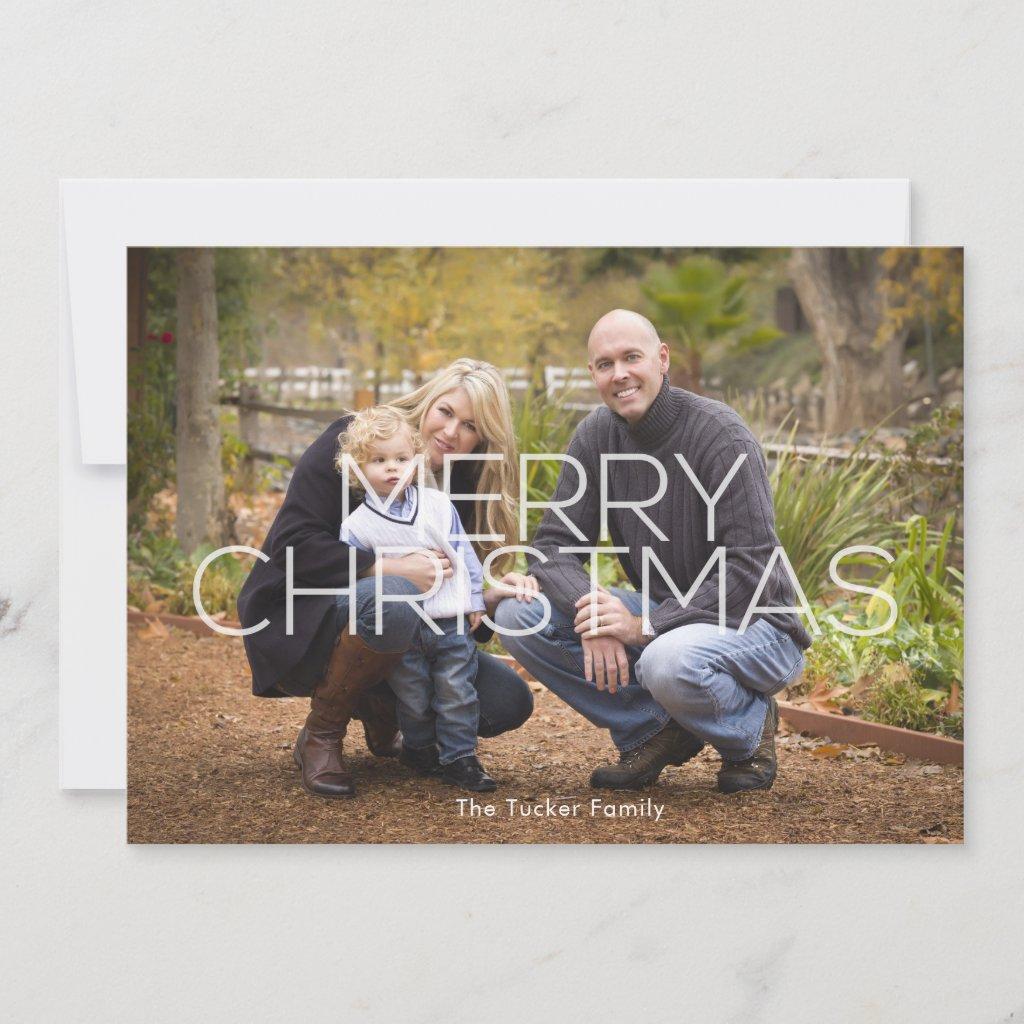 Modern Full-Photo Merry Christmas Photo Card