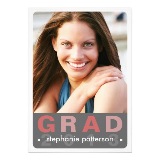 Modern Fun Grad Photo Card Graduation Party