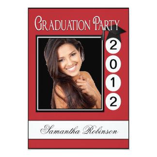 "Modern Fun Graduation Party Custom Photo 5"" X 7"" Invitation Card"