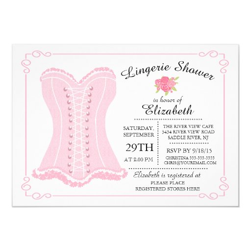 Lingerie Bridal Shower Invitations could be nice ideas for your invitation template