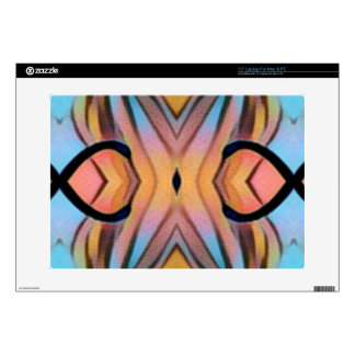 """Modern Funky Neutral Pastel Abstract Pattern 15"""" Laptop Decal"""