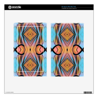 Modern Funky Neutral Pastel Abstract Pattern Decal For Kindle Fire