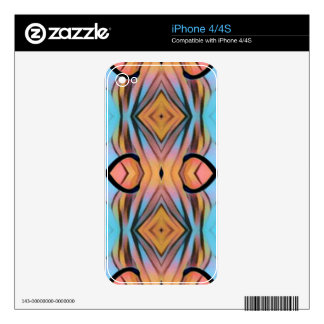 Modern Funky Neutral Pastel Abstract Pattern Decals For The iPhone 4