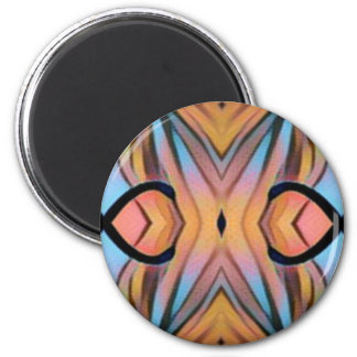 Modern Funky Neutral Pastel Abstract Pattern Magnet