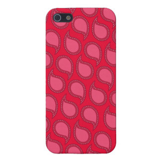 Modern Funky Paisley Pattern in Pinks Case For iPhone SE/5/5s