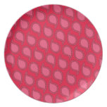 Modern Funky Paisley Pattern in Pinks Party Plates