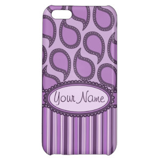 Modern Funky Paisley Pattern in Purples iPhone 5C Cover