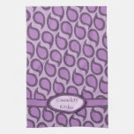 Modern Funky Paisley Pattern in Purples Kitchen Towels