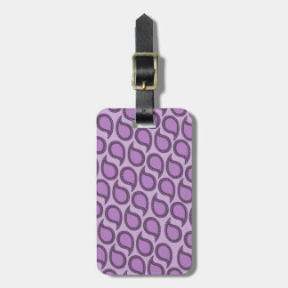 Modern Funky Paisley Pattern in Purples Tag For Luggage