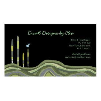 Modern Funky Vector Art Designer Business Cards