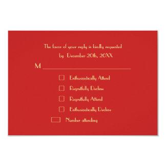 Modern Funny Custom Holiday Christmas Party RSVP Card