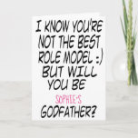 Modern Funny Godfather Proposal Photo Card