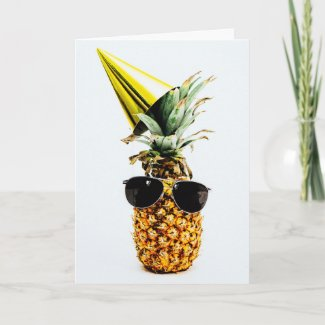 Modern Funny Pineapple Birthday Card for him