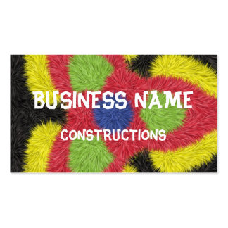 Modern furry brush pattern Double-Sided standard business cards (Pack of 100)