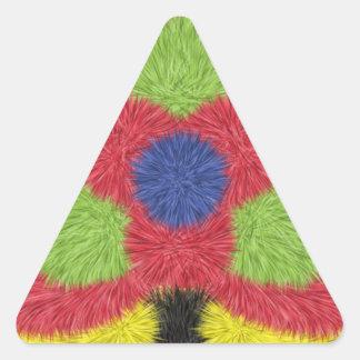 Modern furry brush pattern triangle sticker