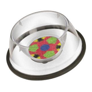 Modern furry brush pattern pet bowl