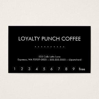 Modern Futura Loyalty Coffee Punch-Card Business Card