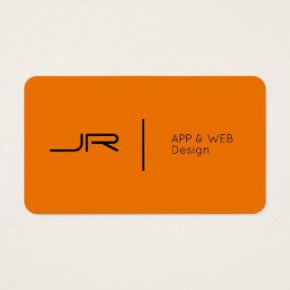 Modern future logo style orange black business card